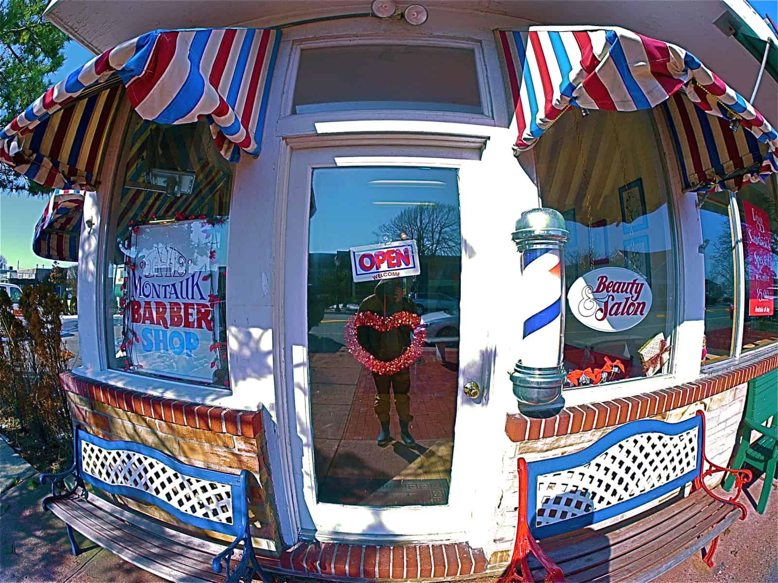 The Montauk Barber Shop, February 12, 2013, Montauk NY, photo by Sailing Montauk