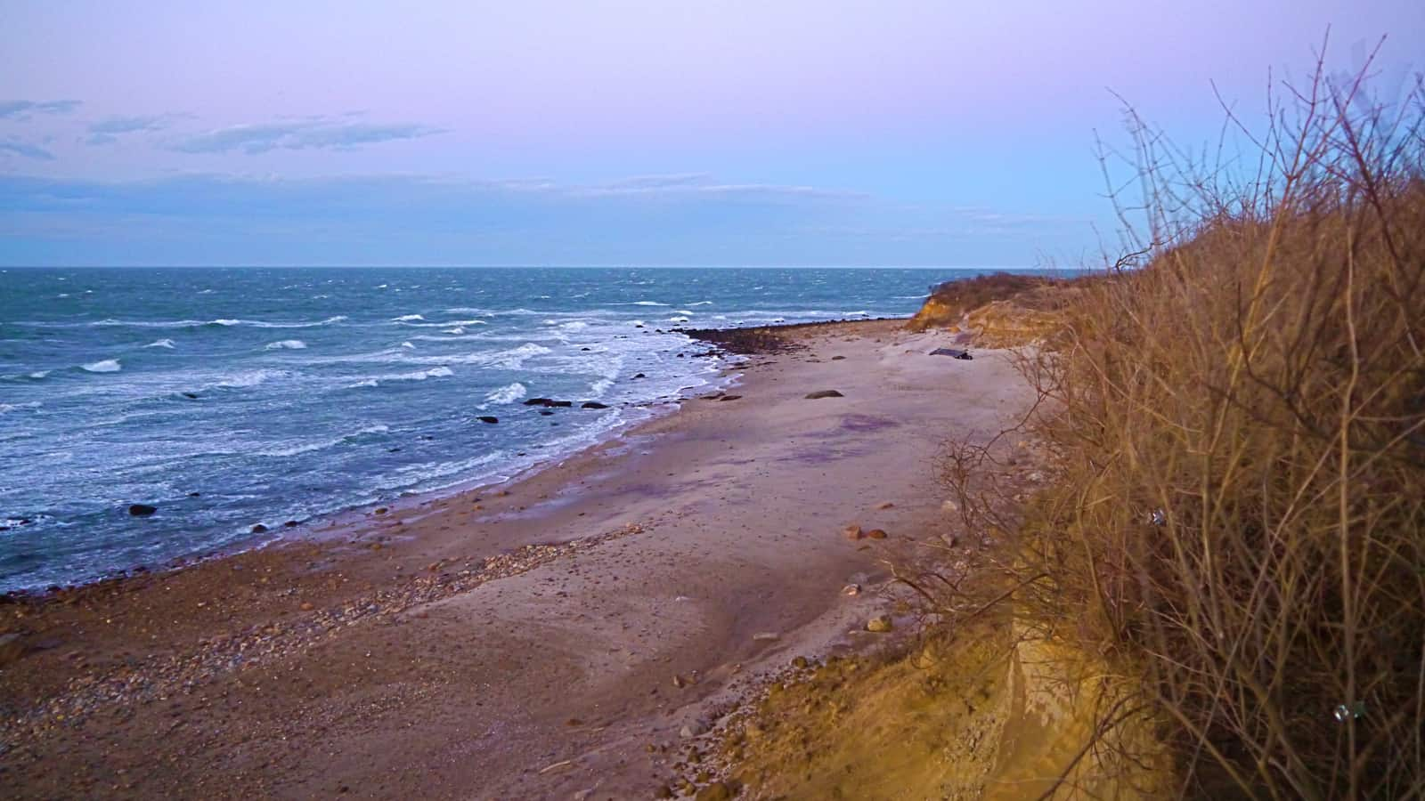 Culloden Point at last light, Montauk NY