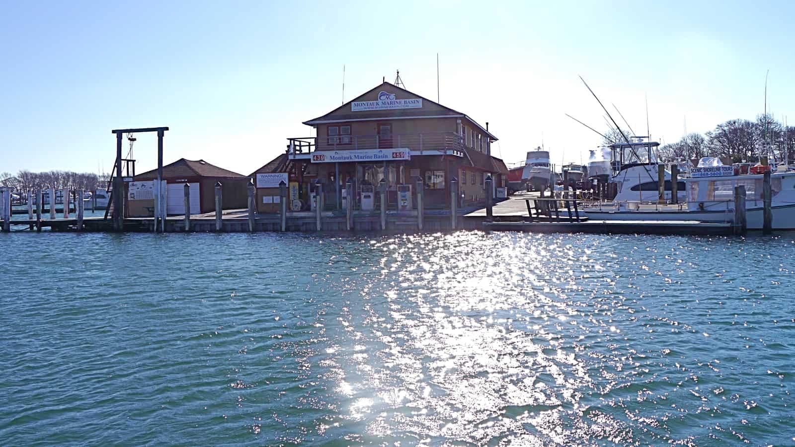 The Montauk Marine Basin Fuel Dock, February 12, 2013, Montauk NY, photo by Sailing Montauk