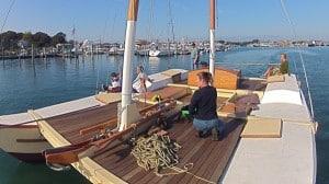 Launch Day for Montauk's Charter Sailing Catamaran Mon Tiki