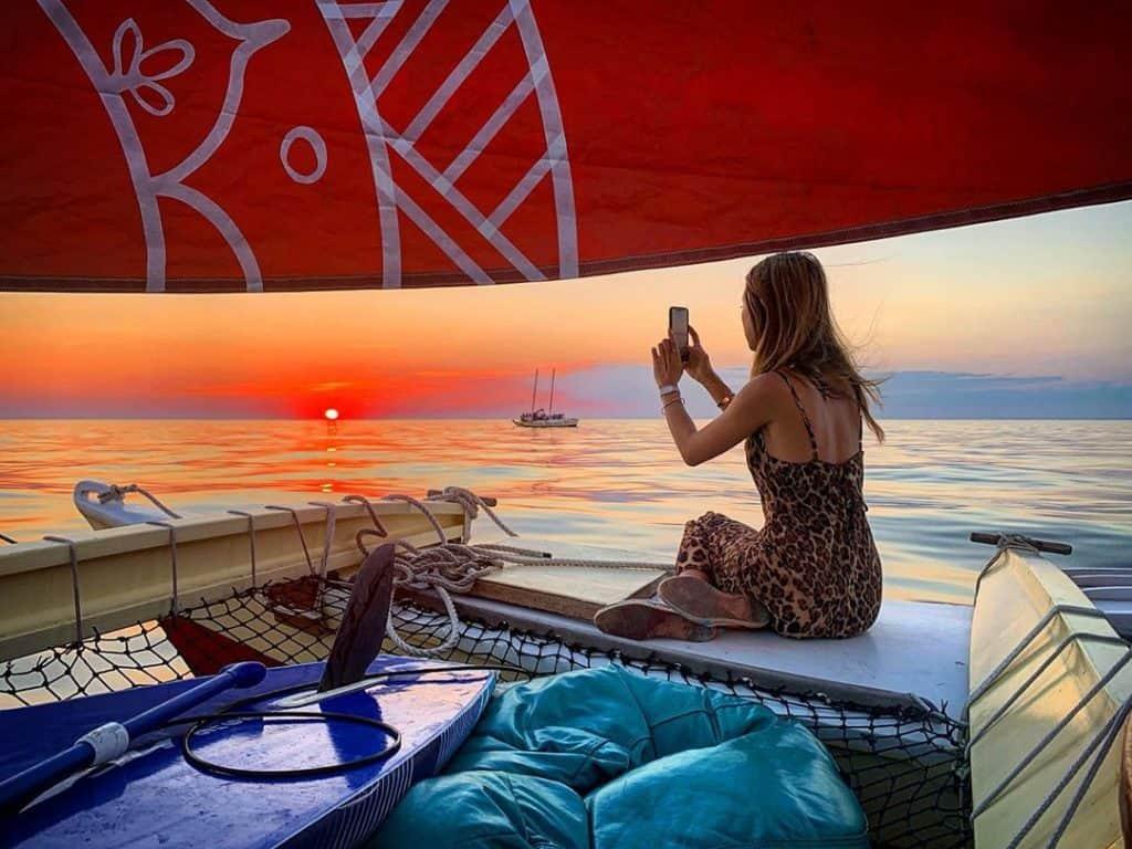Capturing golden hour aboard Mon Tiki Mini