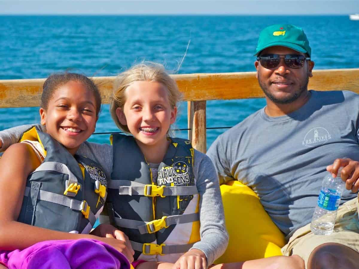 Family fun aboard Mon Tiki catamaran