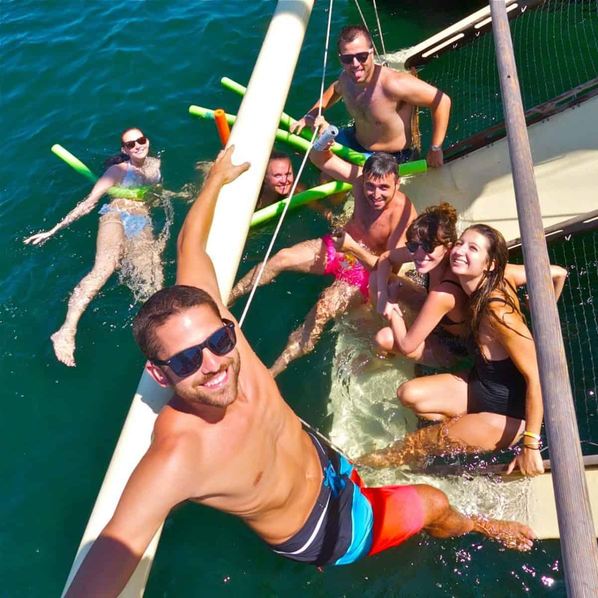 The swim ramp is everyone's favorite Mon Tiki hangout
