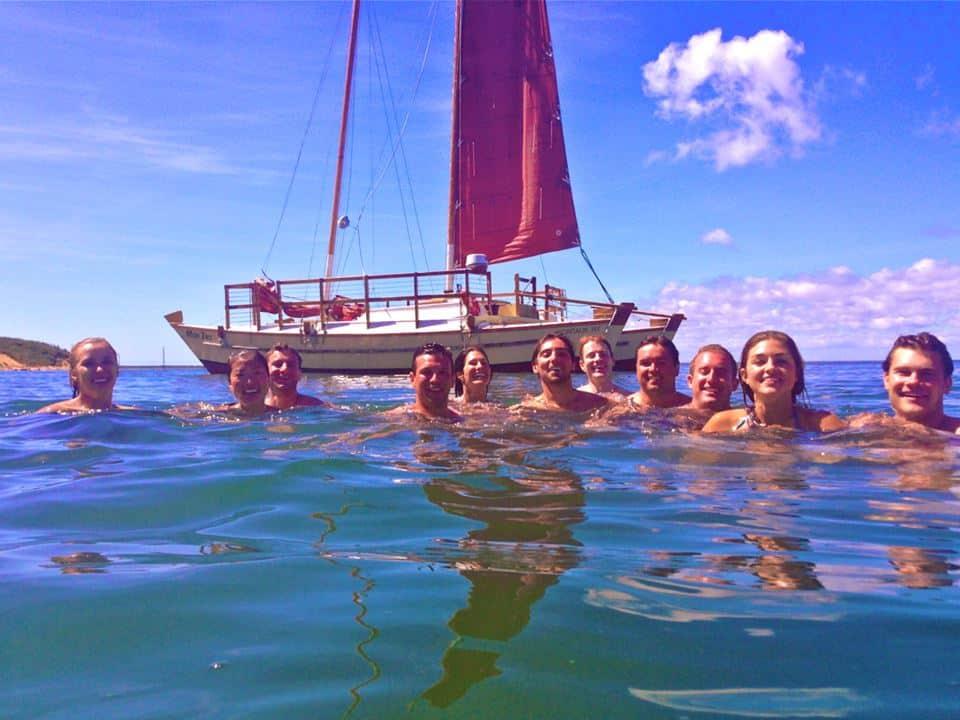 Anchor up and make Mon Tiki a swim platform