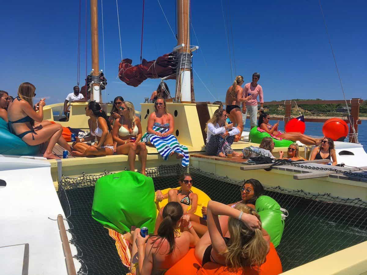 Apres swim sunbathing on Mon Tiki Largo