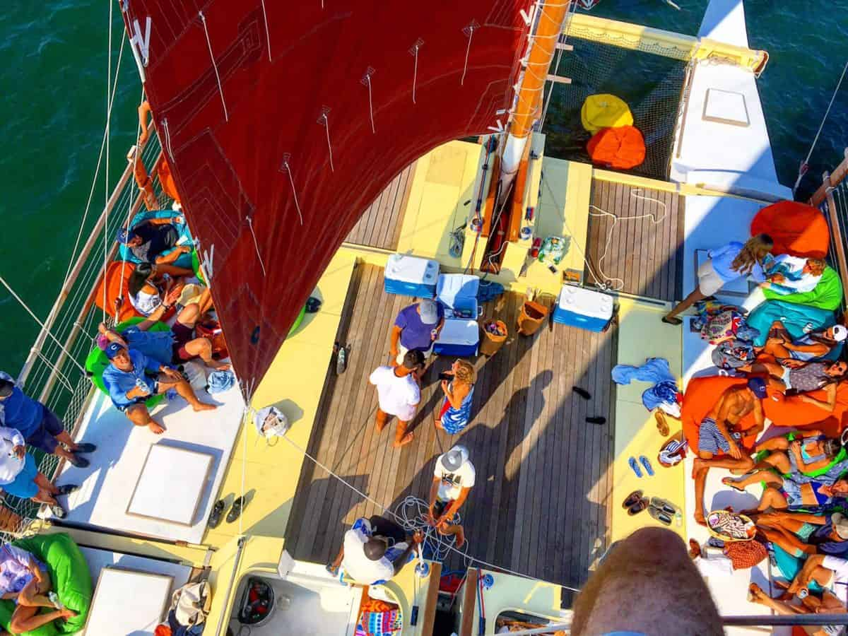 Mon Tiki Largo's spacious decks leave lots of room to spread out