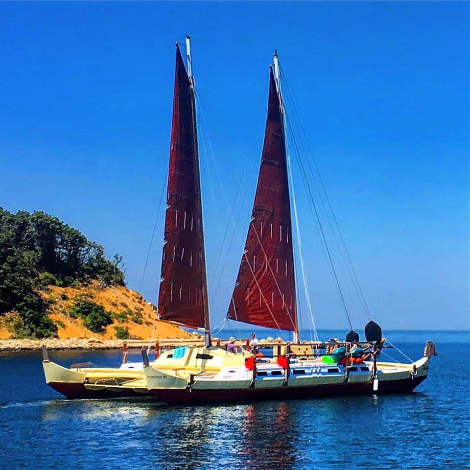 Mon Tiki Largo heading to Napeague for a swim stop