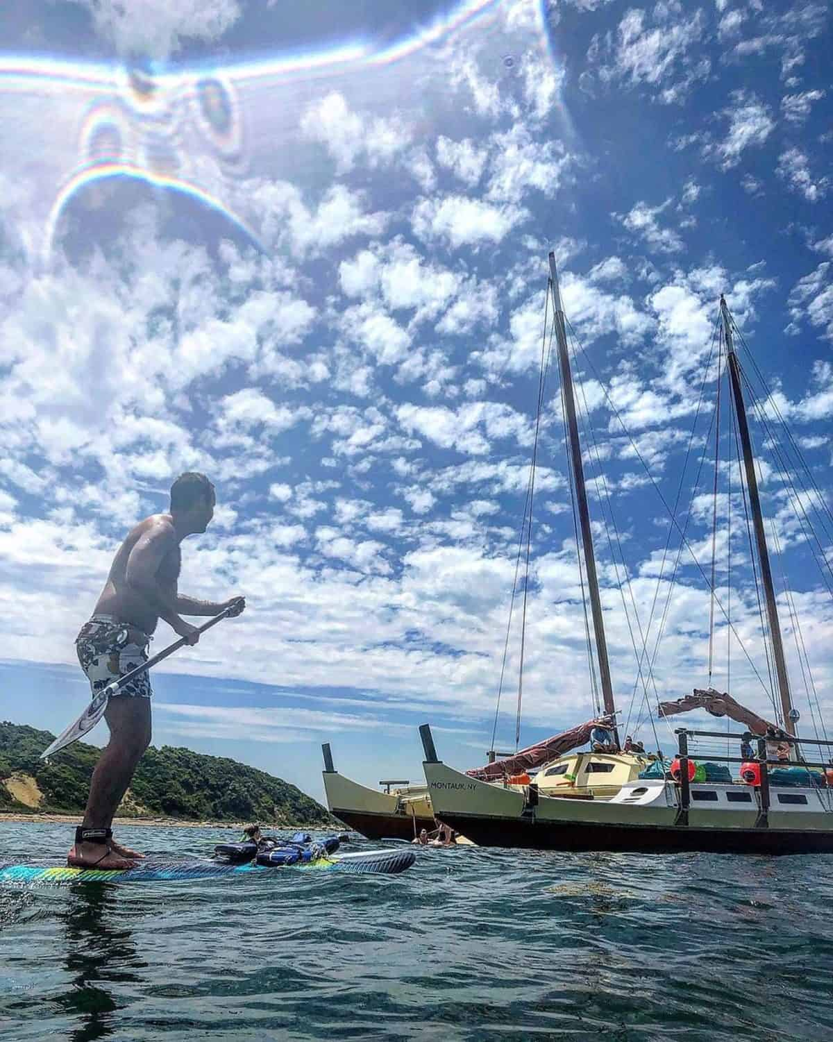 Paddler's perspective of a Sail and Swim trip on Mon Tiki Largo