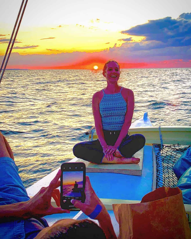 The perfect sunset shot on Mon Tiki Mini