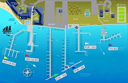 Gurney's Star Island Resort Slip Map small