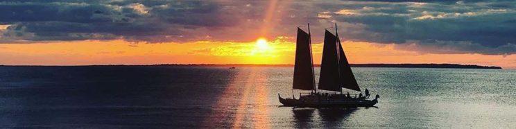 Mon Tiki Largo at sunset