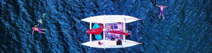 Floating beside Mon Tiki Mini