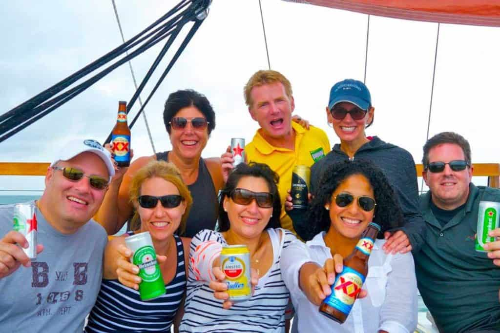 Team Heineken celebrates a great year on board Mon Tiki